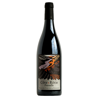 Bouteille de vin Côte Rôtie biologique Prenelle
