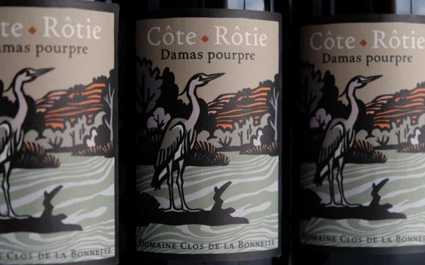 Côte-Rôtie Damas Pourpre en série, vin biologique du clos de la Bonnette